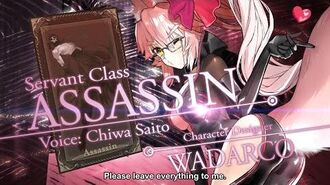 Fate Grand Order Cosmos in the Lostbelt Servant Class Assassin