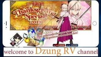 【FGO 89】Thanksgiving Special 2019 -11-20 ~ 12-01 🎁 Fate Grand Order NA