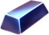 Blue metalic block