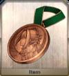 Bronze nero medal