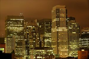 San-francisco-financial-district-night