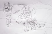 A Valkyrie riding a Horse