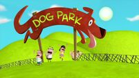 Nancy, Hank, Yo and Lupe run out of the dog park s2e12b