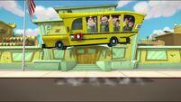Bouncing school bus