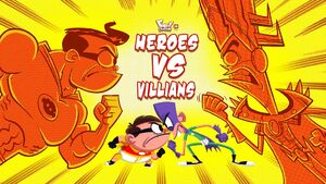 Heroes vs. Villains title card