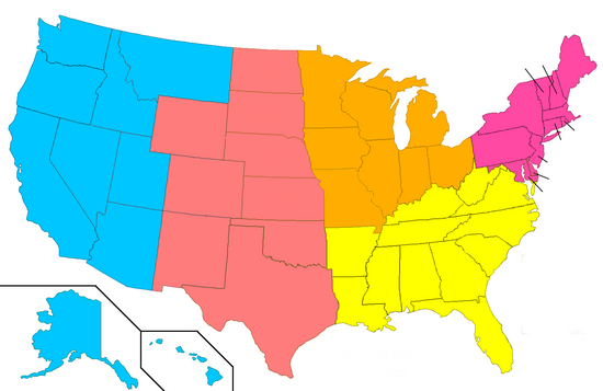 United States Administrative Divisions unnumbered