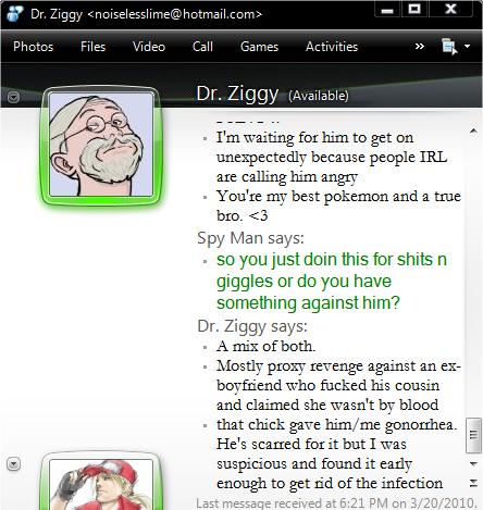 Ziggy gonorreah