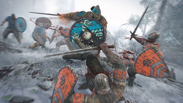 For Honor warrior takes on several grunts