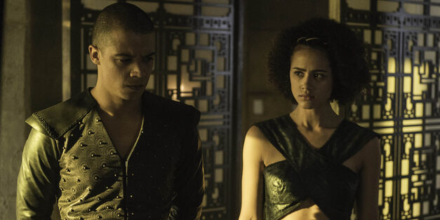 Missandei-and-Grey-Worm-in-Game-of-Thrones