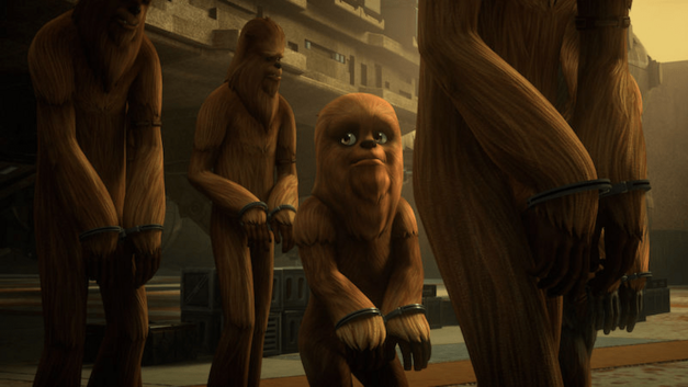 Star Wars Rebels wookiees being marched off in handcuffs