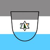 Amsdorfische flagge mit wappen