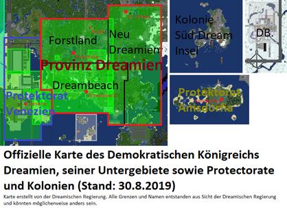 Demokratisches Königreich Dreamien - Gebietskarte-0