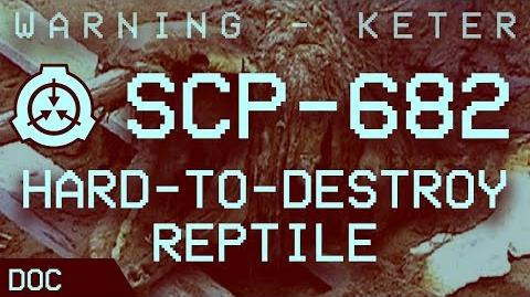 "SCP-682 - ""Hard-to-Destroy Reptile"" Object class - Keter ❗ (by Max Lombardi)"