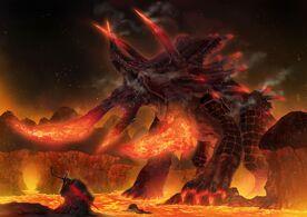 Godlike-Monster-Art-Fire-Dinosaur
