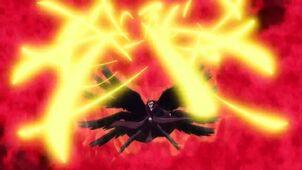 Samael using ligth sword attack