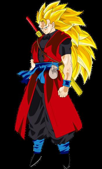 Goku xeno super saiyan 3 by frost z-daspvti