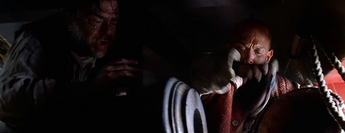 Marty missbraucht den Flachmann als Munition