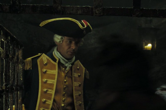 Norrington in the brig
