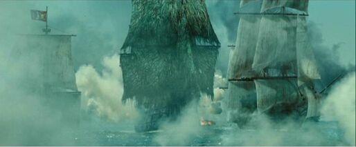 Die Dutchman bekämpft Piratenschiffe
