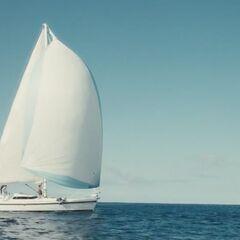 Sailing the open seas.