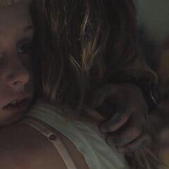 Tommy hugs Jess.