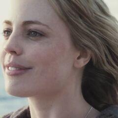 Jess smiles.
