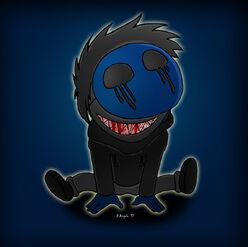 Eyeless jack smiles by simotaku-d5h33er