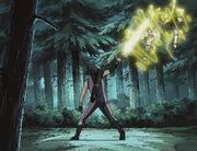 Aoi defeats Sasuke