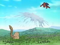 Shukaku fighting Gamabunta