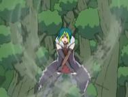 Kujaku using her wind powers