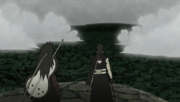 Madara and Obito faced by the Allied Shinobi Forces