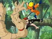 Gaara repelled by Naruto