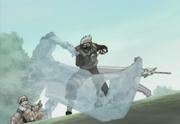 Zabuza fighting Kakashi Hatake