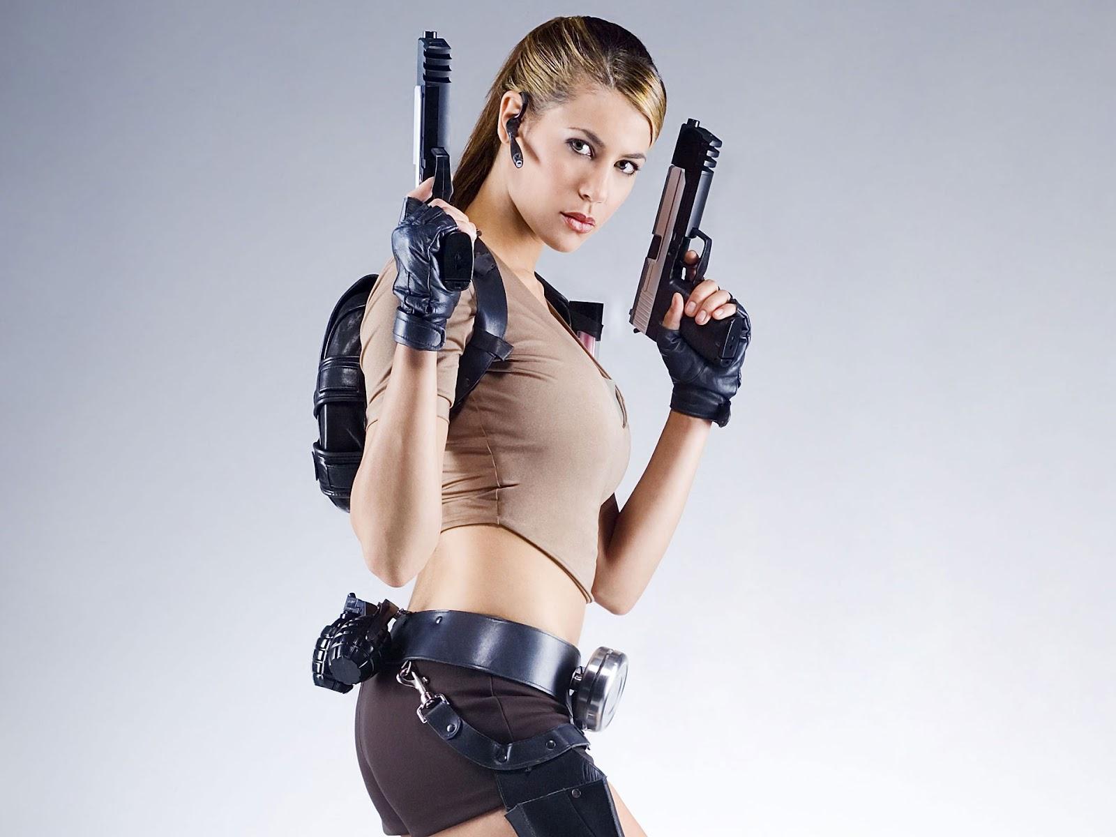 תוצאת תמונה עבור gun girl