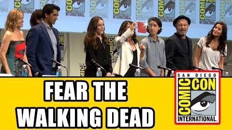 Fear The Walking Dead Comic Con Panel Cliff Curtis, Kim Dickens, Frank Dillane, Elizabeth Rodriguez