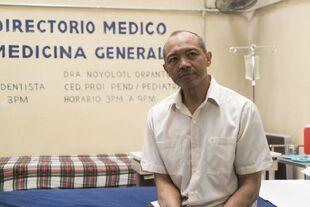 Alejandro in the pharmacy