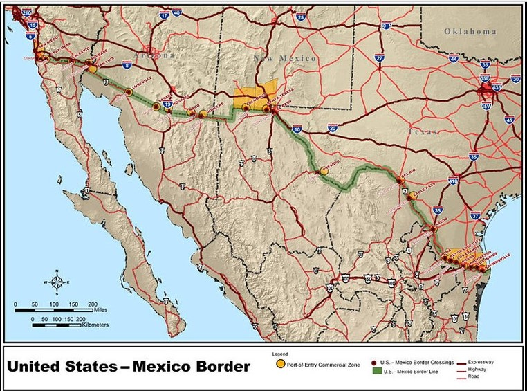 The Border Fear The Walking Dead Wiki Fandom Powered By Wikia - Us-ports-of-entry-map