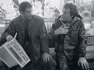 Bladerunner newspaper press shot full