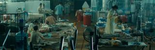 Dr Exner's makeshift hospital