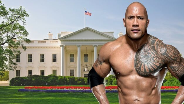 the rock dwayne johnson in front of white house