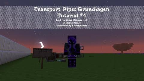Minecraft Transport Pipe Tutorial 4 (German Deutsch)