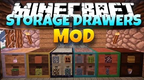 Minecraft Mod STORAGE DRAWERS! Drawers and Shelves 1.7