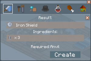 Iron Shield - Creation Screen