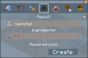 Warm Hat - Creation Screen