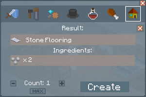 Stone Flooring - Crafting Screen