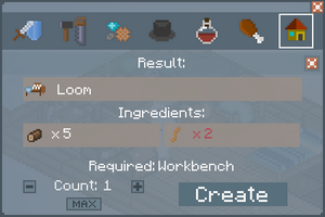 Loom - Crafting Screen