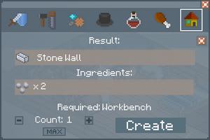 Stone Wall - Crafting Screen
