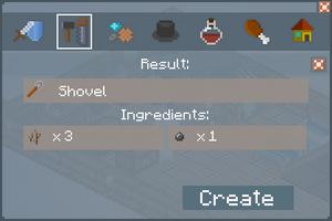 Shovel - Crafting Screen
