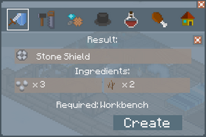 Stone Shield - Creation Screen