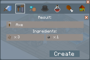 Axe - Crafting Screen